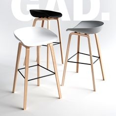 If you are looking to buy Scandinavian bar stools, you can select from several options. Shop wood frame in black Danish Bar Stool from Lectory. White Leather Bar Stools, White Bar Stools, Modern Bar Stools, Leather Chairs, Black Counter Stools, Stools For Kitchen Island, Kitchen Benches, Breakfast Bar Stools, Breakfast Bar Kitchen