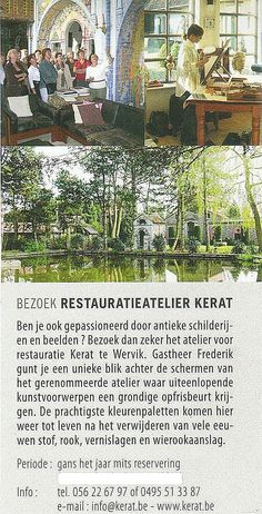 Atelier for restoration of paintings, sculptures and art objects. Fine Art Conservator - paintings - sculptures. conservation studio KERAT tel. 0495/513387  info@kerat.be www.kerat.be - www.art-restaurateur.fr Frederik Cnockaert. I am an independent qualified conservator restaurator of art works. I have a particular expertise in art restauration. My clients are: Antiques dealers, Private individuals, interior designers, decorators, architects, developers, collectors, museums, private…