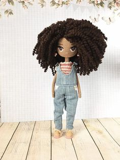 Handmade Doll Crochet Doll Amigurumi Doll Collection Doll Interior Doll Pattern Gift For Girl Souvenir For Women - Amigurumi Crochet Doll Pattern, Crochet Patterns Amigurumi, Amigurumi Doll, Amigurumi Tutorial, Knitted Dolls, Crochet Dolls, Amigurumi For Beginners, African American Dolls, Doll Tutorial