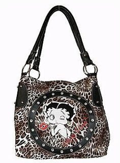 Betty Boop Handbag Animal Print On Today For Just 36 00 3 99 Shipping