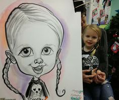 Emily's Caricature Blog-- little girl