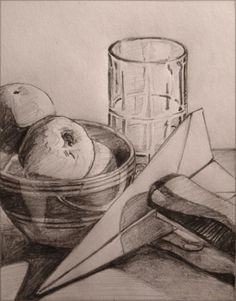 Steps for drawing a still life