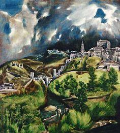 El Greco (aka Dominikos Theotokopulos)-View of Toledo