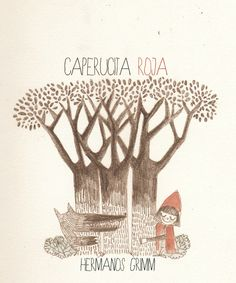 Little Red Riding Hood by Nevena Zecevic, via Behance