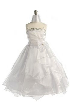 cheap ivory pageant dresses for girls