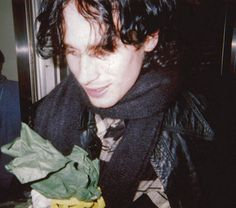 Jeff Buckley with fans after his performance at Shinjuku Liquid Room on January 30, 1995 in Tokyo, Japan.