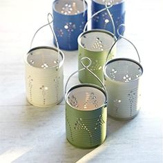 This tutorial will show you how to recycle your tin cans into pretty lanterns for parties or your home.