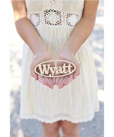 Look at this #zulilyfind! Personalized Oval Ornament #zulilyfinds