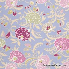 Kids room fabric to make duvet cover. Fabric... Gypsy Caravan Gypsy Mum in Periwinkle by Amy Butler