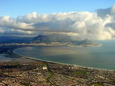 Cape Town western seaboard - as seen flying into Cape Town International from the north. Milnerton and Blouberg is visible to the right.