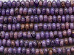 Dakota Stones Purple Crazy Lace Agate 6mm Roundel Bead Strand