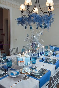 Chanukah tablescape