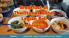 Breakfast at The Stones Hotel Legian Bali Indonesia - Meta Videos Movies Online, Stones, Make It Yourself, Breakfast, Videos, Rocks, Stone, Video Clip, Morning Breakfast