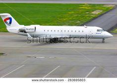 SAINT-PETERSBURG, RUSSIA - MAY 23, 2015.  Severstal Air Company Bombardier Canadair Regional Jet CRJ-200LR  id 283695803