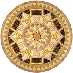 Round Marble Inlay Restaurant Table Top Intricate Work Home Decor Art Restaurant Table Tops, Floor Patterns, Baroque Fashion, Marquetry, Floor Design, Public Art, Living Room Interior, Stained Glass, Flooring