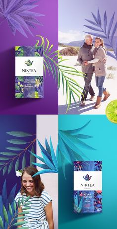 Niktea on Packaging of the World - Creative Package Design Gallery tropical palm tree Tea Packaging, Food Packaging Design, Packaging Design Inspiration, Graphic Design Inspiration, Bottle Packaging, Design Ideas, Style Inspiration, Web Design, Logo Design