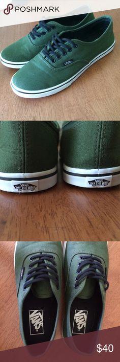 Forrest Green Vans Forrest Green Vans. Never worn! Vans Shoes Sneakers