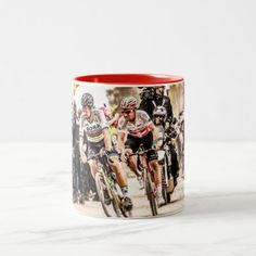 Pact with the Devil - Paris Roubaix 2018 Two-Tone Coffee Mug   cycling bike, cycling workout benefits, urban cycling #bikeart #Stampen #VCServiceCourse, 4th of july party