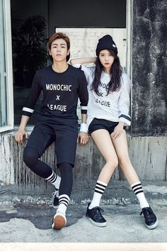 IU and Lee Hyun Woo in 'Union Bay's fall pictorial | allkpop.com