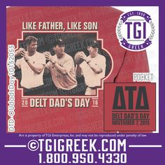 TGI Greek - Delta Tau Delta - Dad's Day - Comfort Colors - Greek T-shirts #tgigreek #deltataudelta #dadsday