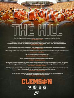 The Best of the Best Traditions in Football is at Clemson University! Love this tradition! Clemson Football, Clemson Tigers, College Football Teams, Football Pics, Sports Teams, Traditional, Death Valley, Tiger Paw, Alma Mater