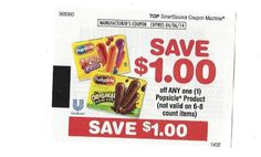 10 Coupons Save $1.00 on any (1) Popsicle Product 04/06/2014