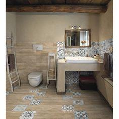 Carrelage sol et mur naturel effet bois Oural l.20 x L.60.4 cm