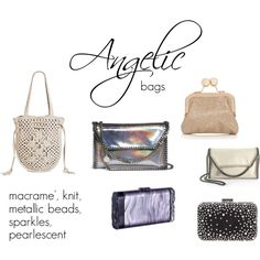 Angelic bags by expressingyourtruth on Polyvore featuring STELLA McCARTNEY, Merona, Oasis, Edie Parker and Miss KG