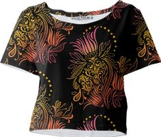 Paisley Lotus Crop Top designed by Daneisha Kirksey | Print All Over Me