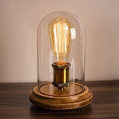 Surpars House Vintage Desk Lamp Glass Shade Table Lamp Edison Bulb Included in Table Lamps. Edison Bulb Light Fixtures, Edison Lighting, Light Bulb Lamp, Desk Light, Edison Bulbs, Light Led, Outdoor Lighting, Antique Table Lamps, Vintage Lamps