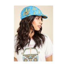 Mokuyobi Travel High Five-Panel! Hat (2,080 DOP) ❤ liked on Polyvore featuring accessories, hats, fashion hat, cotton cap, blue 5 panel hat, travel hat, retro hats and yellow cap