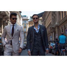 Milan & @frankgallucci & @federicolapo  #menswear #italianstyle #suit #style #menstyle #mensstreetstyle  #streetstyle #milan #mfw #tailored  #gentleman #men #fashion #moda #mode