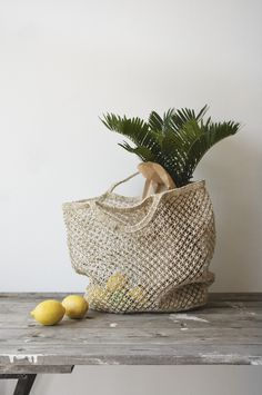 The sheer work and amount of skill that goes into creating each one of these fair trade Jute macrame tote bags is amazing.