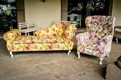 divan con tapiz floreado #vintage | muebles vintage | pinterest ... - Muebles De Diseno Vintage