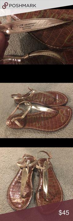 Sam Edelman Gigi Thong Sandal Rose Gold Like new, worn once! Rose gold color (stock photo is regular gold), size 6.5!  No flaws! Adjustable strap, thong sandal. Sam Edelman Shoes Sandals