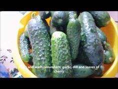 DIY - Cum sa faci castraveti in saramura/Reteta de vara - How to make cucumbers in brine? - YouTube Romanian Food, Summer Recipes, Cucumber, Food To Make, Make It Yourself, Youtube, Summer, Youtubers, Zucchini