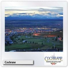 evening picture of Cochrane, spirit of the west