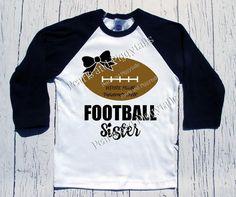 PREORDER Football Sister Raglan - Black