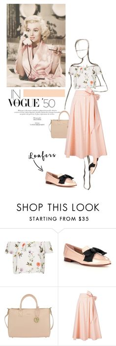 """""""In Vogue '50"""" by cafejulia ❤ liked on Polyvore featuring Topshop, Kate Spade, Furla and Lisa Marie Fernandez"""