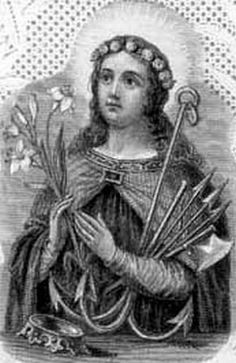 Saint Philomena, another young person led to her death by her faith and given as a model to all youth - including students