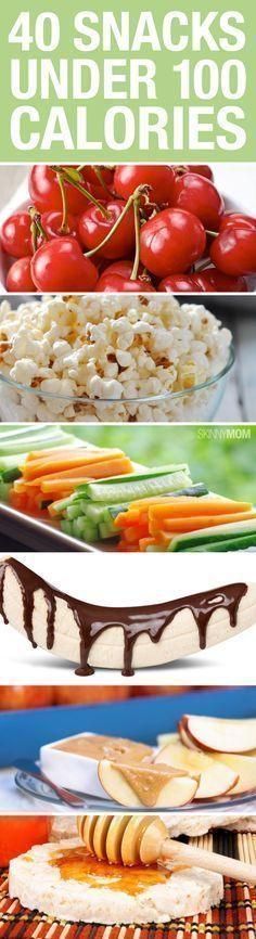 All of these tasty treats are under 100 calories. Pack a few for a healthy snack between meals!