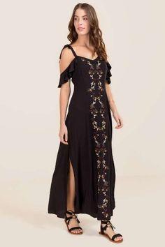 8b22b48cc62 Evita Floral Embroidery Maxi Dress Stylish Dresses