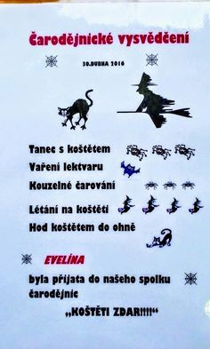 To si dávno zasloužím. Aa School, School Clubs, Halloween Crafts, Halloween Party, Poems, Witch, Teaching, Quotes, Inspiration
