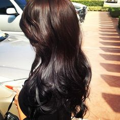 I really want to do a reverse ombré. Instead of partly bleaching out my hair-dye it a darker color, super dark brown, or black. This is probably close to what the result would be.