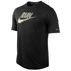 Nike Dri-Fit Run S/S T-Shirt - Men's - Running - Clothing - Black - got a massive thing for running gear