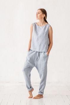 0bcca07ca42 Harem pants Linen pants Woman pants Natural linen pants Linen Pants Women