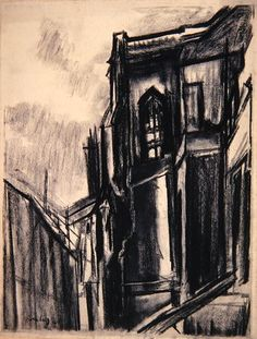 Chartres Cathedral, by David Bomberg