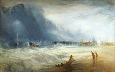 (detail) JMW Turner, Lifeboat and Manby Apparatus Going off to a Stranded Vessel Making Signal (Blue Lights) of Distress