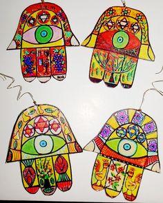 FOLK ART Holiday ORNAMENTS HAMSA JUDAICA SILBERZWEIG_Dolores Gonzalez-Jarvis
