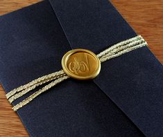 Our custom wax seals are adhesive, so affixing them to your invitations and enclosures is easy and stress-free. Simply peel off the back to reveal the adhesive, and stick it directly in the location of your choice.